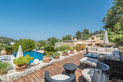 authentic villa, san augustin, ibiza, villa with pool
